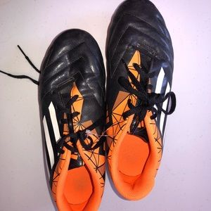 Adidas Size 6 Cleats Orange/Black-NICE